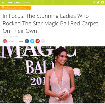 ABS-CBN Star Magic Ball Red Carpet (October 2017)
