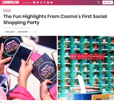 Cosmopolitan Philippines: Cosmo's First Social Shopping Party (November 2017)