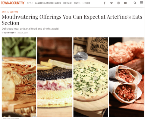 Town and Country Philippines: Eats by Artefino (August 2018)