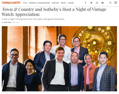 Town and Country Philippines: Sotheby's Event (August 2018)